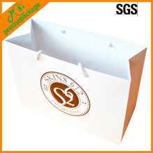 Recycle white art paper paper carrier bags with logo (PRP-834)