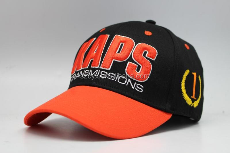 6 panel unisex custom fitted baseball caps and hats