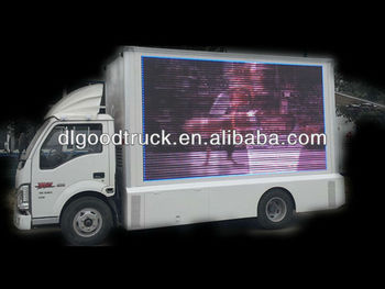 Outdoor Mobile FOTON Advertising LED Truck scrolling advertising trucks