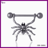 White Gold Body Jewelry Spider Sexy Nipple Piercing