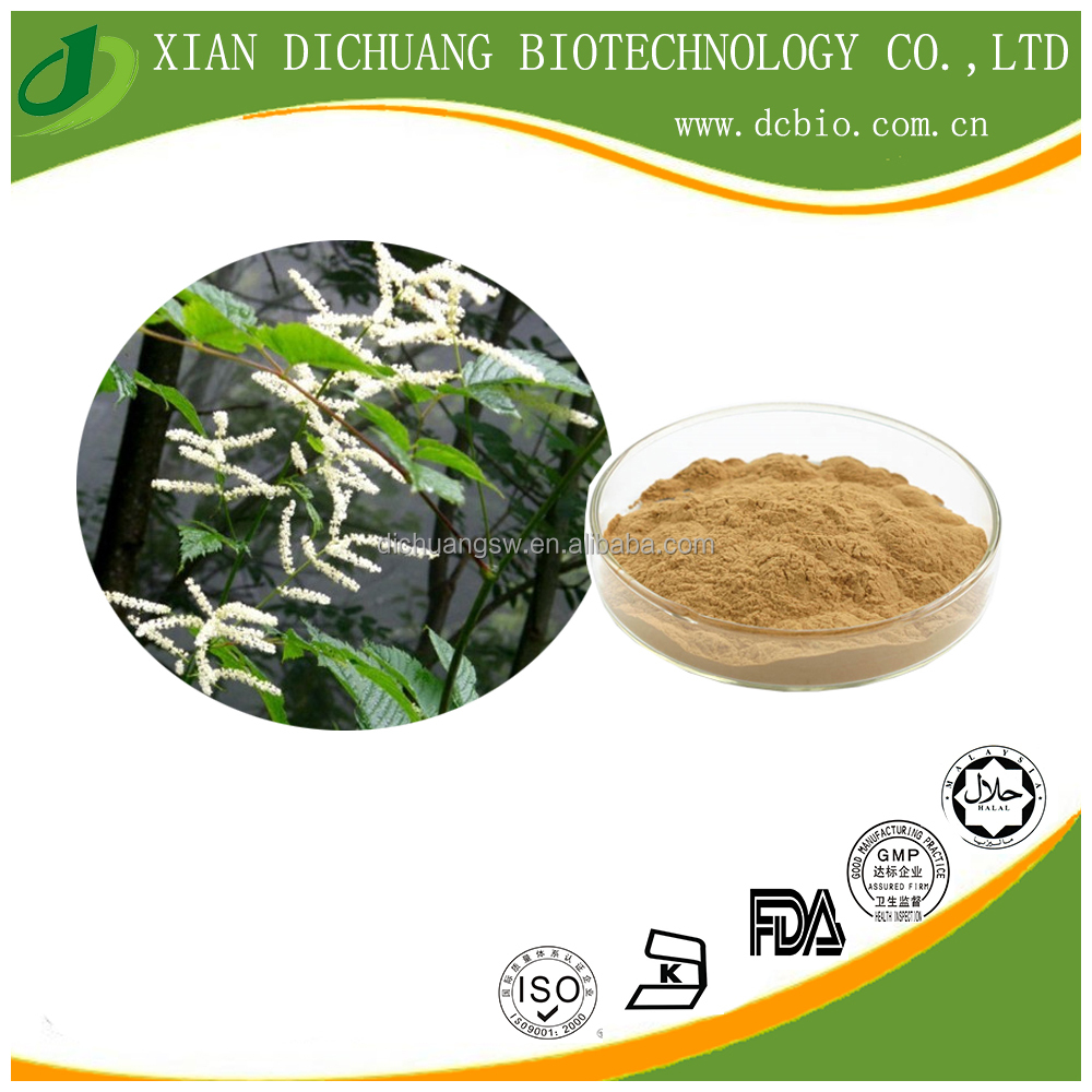 natural Black Cohosh Root & Stem extract powder,Triterpene Glycosides 2.5% 5% 8%, Cimicifuga Romose L. Extract