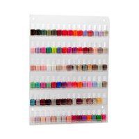 6 tiers best wall mounted hanging clear acrylic nail polish display rack
