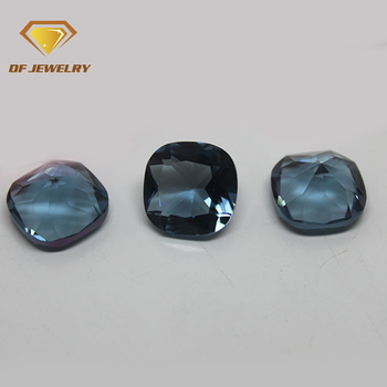 8x8mm cushion cut blue topaz glass gems
