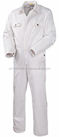 Full White winter thermal overalls working uniform cotton jumpsuit for men