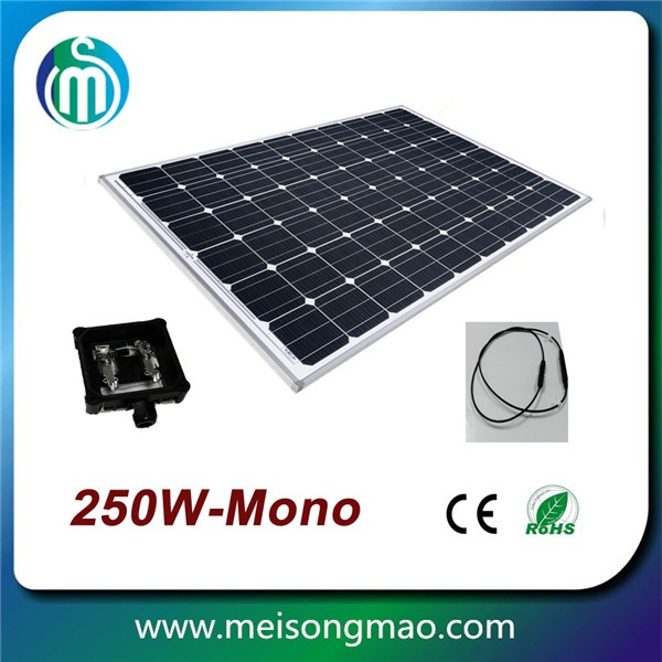 Amorphous silicon solar panel 250 watt price per watt monocrystalline silicon solar panel