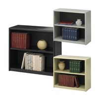 Steel 2-shelf model bookcase with more color
