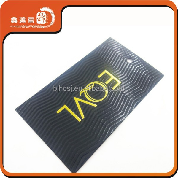 colorful logo customized printing clothing hanging tags