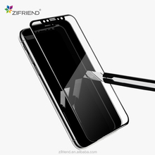 2018 new inventions 3d tempered glass screen protector easy install tool for iph X