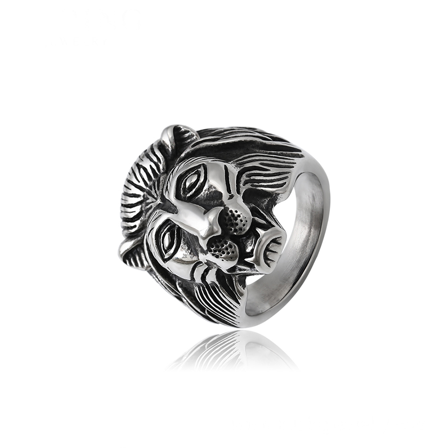 15780 xuping fashion cool animal man's <strong>ring</strong> stainless steel lion head design <strong>ring</strong>