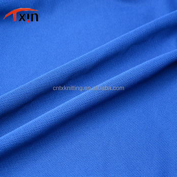 Manufacture knitted polyester jersey fabric for polo shirt,Tear resistant fabric for sportwears