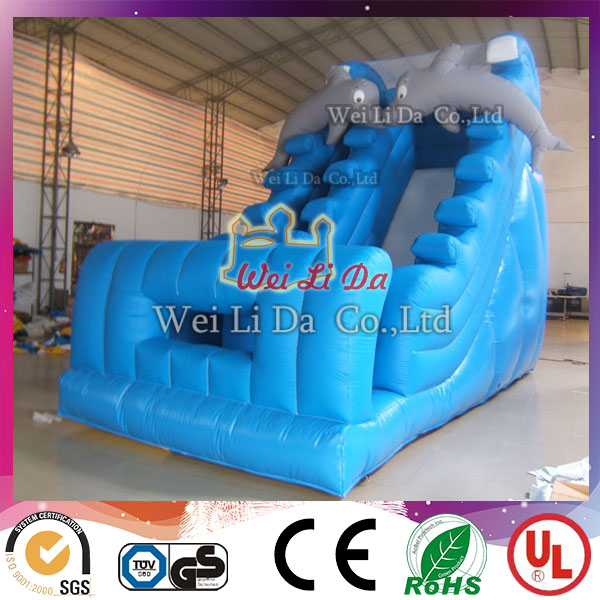 EN14960 factory high quality inflatable wet and dry slide