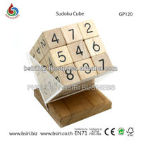 wooden brain puzzles Sudoku Cube
