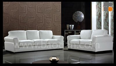High class sofa set with feather goose down seat cushion for meeting room