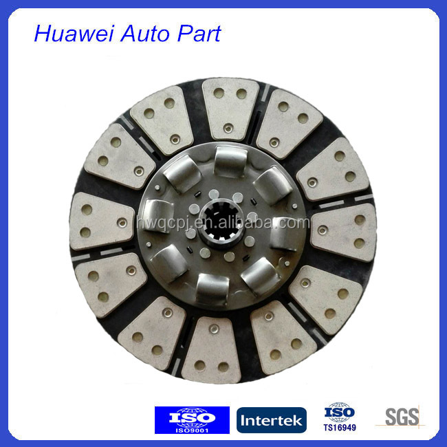spare parts oem truck clutch manufacturer bronze disc for Howo
