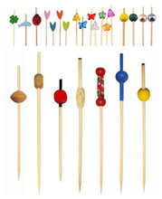 decorative 12cm ball bamboo picks for food /fruit /party