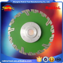 "7"" 180mm Aluminum Flange Diamond Blade Turbo Deep Tooth Triangle Grinding Wheel Stone Tile Saw Blade Cutting Marble Abrasive"