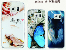 For samsung S6/S6 edge hard pc cell phone case, pc phone case