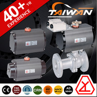 Pneumatic stainless steel two-piece class 800 ball valve