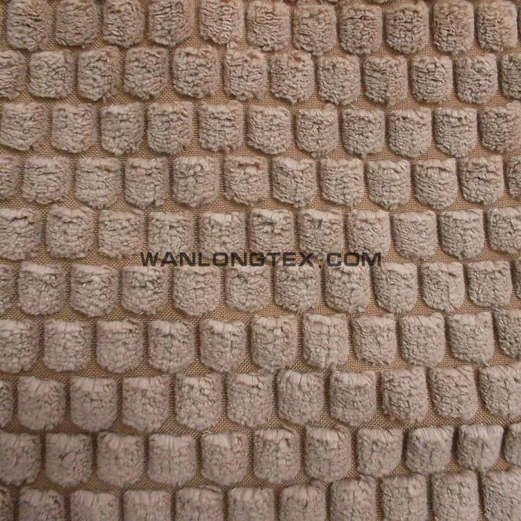 100 Polyester Checked Cut Velvet Corduroy Upholstery