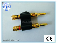High quality Auto Dual Banana Plug for Speaker with Plastic