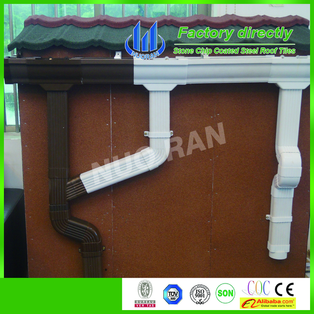 Alibaba China Manufacturer other plastic building material PVC rain gutter, PVC drainage downspout