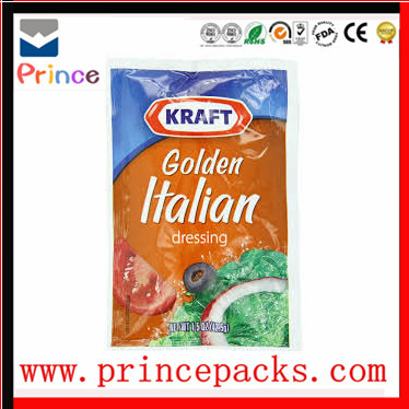 salad dressing laminated vacuum packaging bags/salad dressing packaging