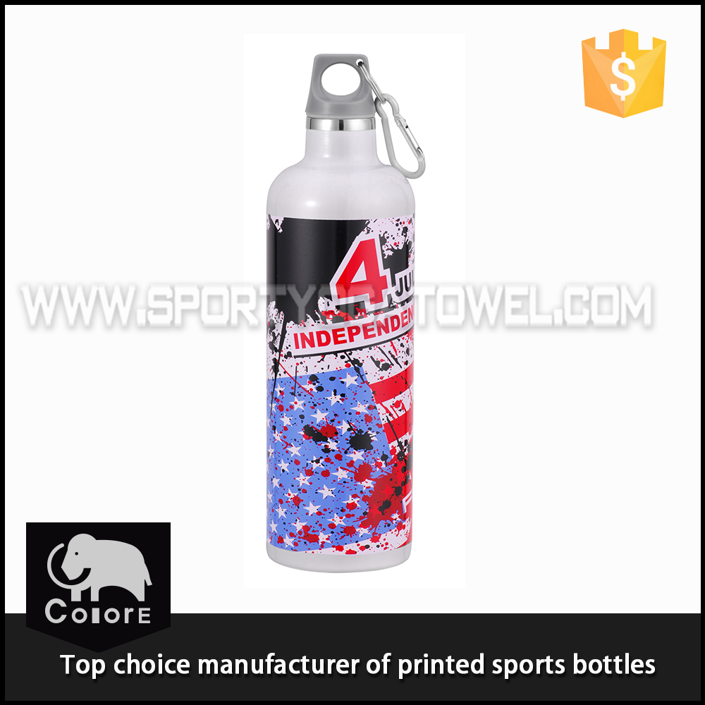 Wholesale unique travel water bottle printing design stainless steel thermos bottle