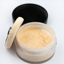 Natual looking long lasting smooth foundation loose makeup glitter powder for beauty with puff