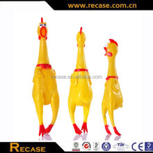 Squeaky chicken dog toy small plastic toy chicken rubber chicken for dog toy