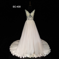 New design real picture wedding gowns for bride 2018 ball gown