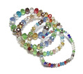 Colorful Crystal Beaded Strand Bracelet Vintage Stretchy Beads Bracelet Jewely on Elastic Mixed Colors Type