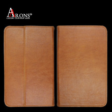 Book design custom universal top grain leather for ipad case