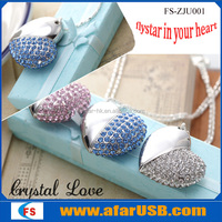 Jewelry heart shape &Promotional gift USB OEM logo printed 512MB/1GB/2GB/4GB/8GB/16GB/32GB/64GB USB flash drive