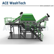 Recycled line waste plastic pp raffia bags recycling plant
