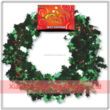 Christmas Green Red HOLLY BERRIES Sparkle Tinsel Garland Party Decoration