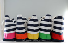 Promotional Custom cheap stripes canvas tote bag