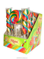 Lollipops 60 swirl and round x25pcs in a carton
