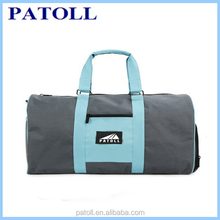Fashion Outdoor custom waterproof fashion weekend nylon travel duffle gym bag,gym duffel bag