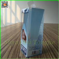 High quality offset printing PVC box with tongue