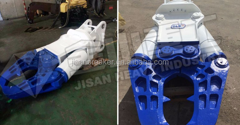 Hydraulic excavator power sheet metal shears for sale