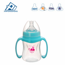 PP Baby Bottle 180ml 6oz Wide Neck Design Makes It Easier to Clean with Silicone Nipple