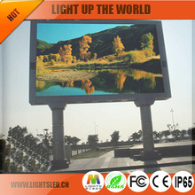 LightS 2016 HD video wall full color outdoor tv panel p10 p8 p6 led video wall durable waterproof advertising billboard