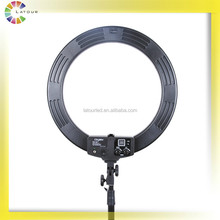 2017 top selling 55w bi color temperature ring led light for dslr dv camcorder HD-18S