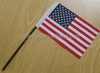 cheap polyester hand flag,hand waving flag,hand held flag