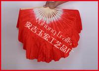 Folk art handmade silk Chinese dance fan