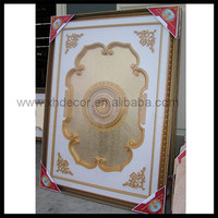 Used in hall/living room White w/gold Pattern insert ceiling designs