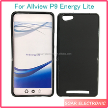 [Soar]Blank Black Pudding TPU Case Cover For Allview P9 Energy Lite, Mobile Phone Case For Allview P9 Energy Lite