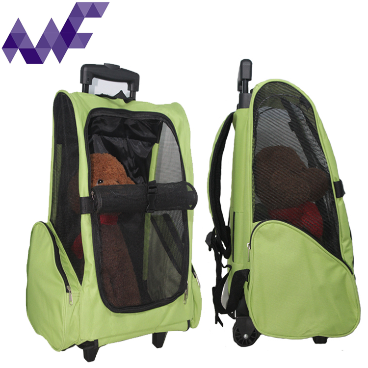 Outdoor Pet Tote Carrier On Wheels With Detachable Roller System 5 Color Choices