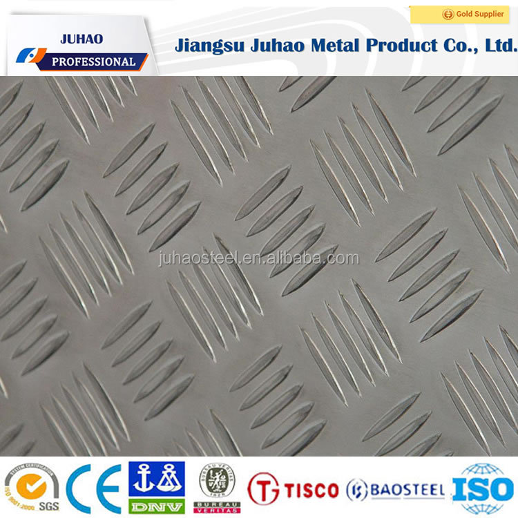 6181 EN AW-6351 aluminium alloy cold rolled plain diamond sheet / plate