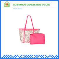 PVC waterproof material cheap beautiful ladies handbags